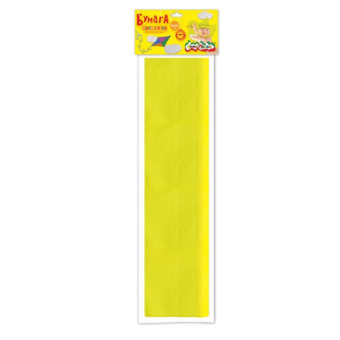 Анонс-изображение товара бумага цв. крепир. флуор. каляка-маляка 50х250 см 1 цв. желтая 32 г/м2 в пакете с европодвесом