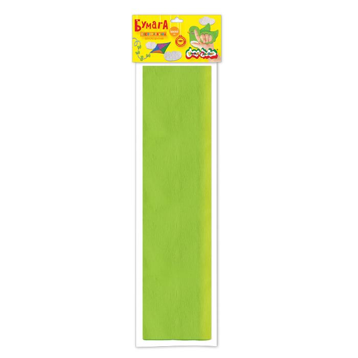 Анонс-изображение товара бумага цв. крепир. флуор. каляка-маляка 50х250 см 1 цв. салатовая 32 г/м2 в пакете с европодвесом